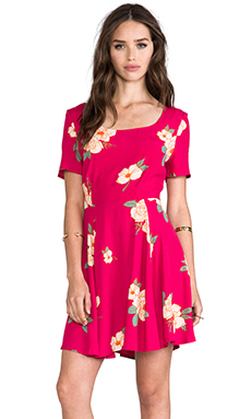 MINKPINK Flower Effect Dress in Multi