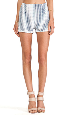 MINKPINK Teenage Dream Short in Navy & White