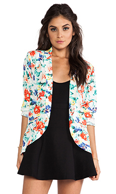 MINKPINK Flower Crush Blazer in Multi