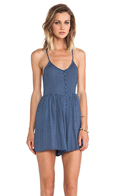MINKPINK Bold As Love Romper in Navy & White
