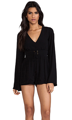 MINKPINK Follow Me To Heaven Playsuit in Black
