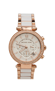 Michael Kors Parker Watch in Rosegold/White