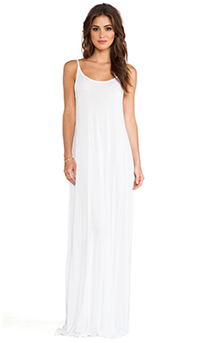 Michael Lauren Gage Deep Back Maxi Dress in White