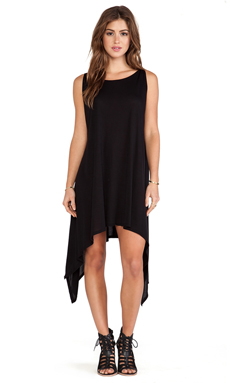 Michael Lauren Roland Tunic Dress in Black