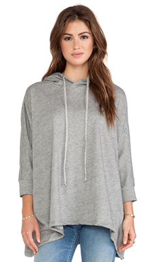Michael Lauren Scooter Oversized Hoodie in Grey