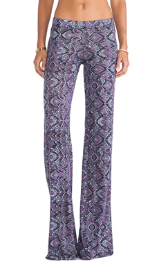 Michael Lauren Derby Wide Leg Pant in Purple Haze