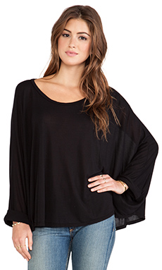 Michael Lauren Felix Oversized Cape Tee in Black