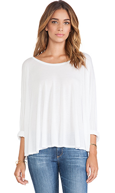 Michael Lauren Felix Oversized Cape Tee in White