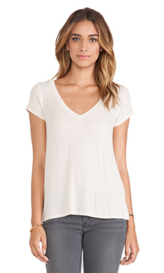 Michael Lauren Newman V Neck Tee in Frenchie