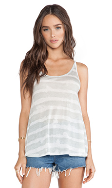 Michael Lauren Fredrick Spaghetti Tank in Grey Stripe