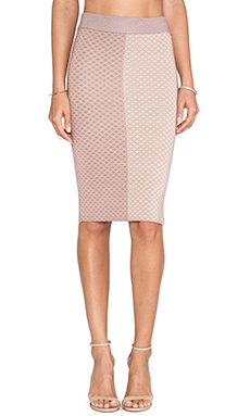 MLV Shae Argyle Pencil Skirt in Nude