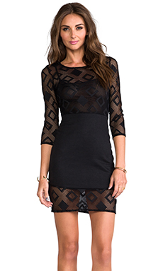 Motel Poison Ivy Dress in Black