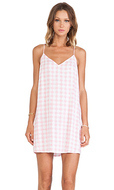 Motel Mini Slip Cami Dress in Pink Gingham