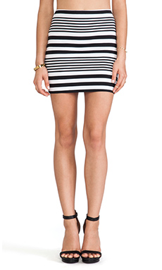 Motel Kimmy Skirt in Multi Stripe