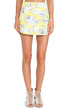 Motel Peri Skirt in Dahlia Citrus