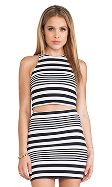 Motel Zena Crop Top in Multi Stripe