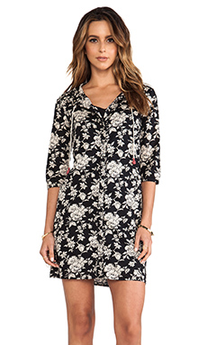 Maison Scotch Beaded Collar Dress in Black Floral