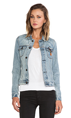 Maison Scotch Trucker Jacket in Classic Denim