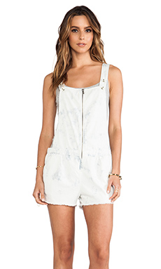 Maison Scotch Pinafore Overall in White Wash