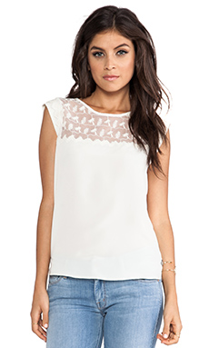 Maison Scotch Lace Top in White