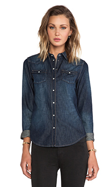 Maison Scotch Denim Western Shirt in Denim