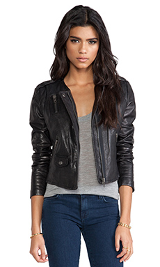 Muubaa Ramus Moto Jacket in Black