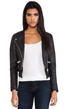Muubaa Surko Moto Biker Jacket in Black