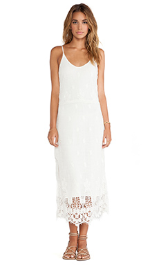 Myne Meteor Crochet Maxi Dress in White
