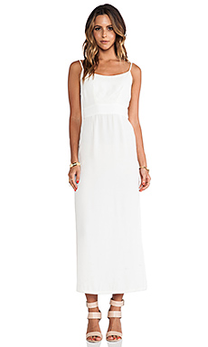 Myne Sail Open Back Maxi Dress in White