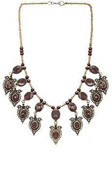 Natalie B Jewelry Chiara Necklace in Rose Mountain Jasper
