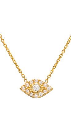 Natalie B Ottoman Evil Eye Necklace in Gold