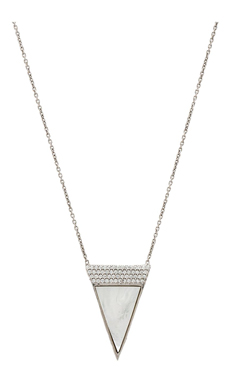 Natalie B Jewelry Imperial Necklace en Argent