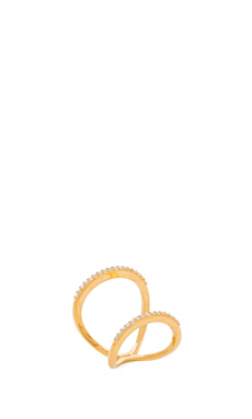Natalie B Jewelry Infinity Ring en Or