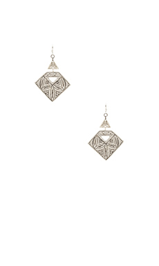 Natalie B Jewelry Ankara Earring in Silver