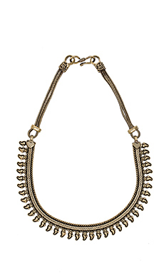 Natalie B Jewelry Arshia Bib Necklace in Brass