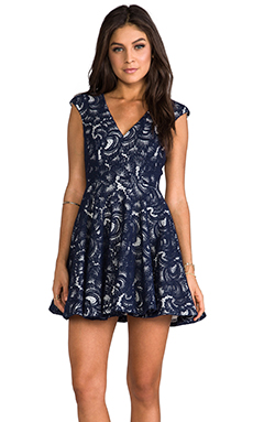 NICHOLAS V-Neck Dress in Navy