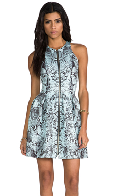 NICHOLAS Zip Front Dress in Multi Print