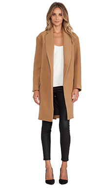 MANTEAU EN LAINE LONG