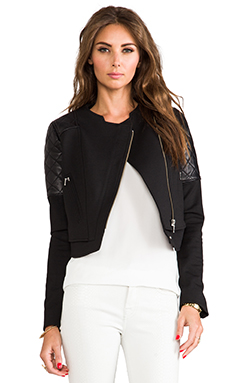 NICHOLAS Ponti Quilted Jacket in Black