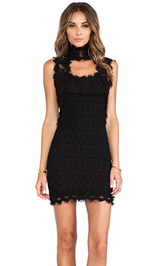 Nightcap Florence Lace Chapel Dress in Black