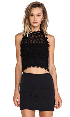 Nightcap Florence Lace Tank in Black