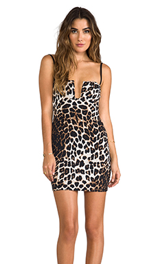 Nookie Bustier Dress in Feline