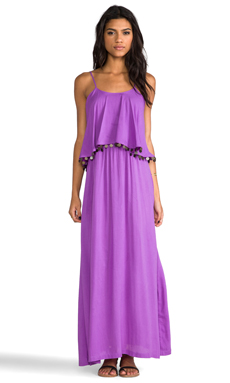Nookie Beach Love Aesthetics Frilled Maxi in Fuchsia