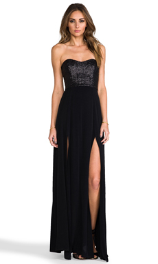 Nookie Diamonds & Pearl Maxi in Black