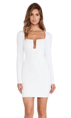 Nookie Stadium Winter Edition Dress en Blanc