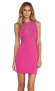 Nookie Stiletto Mesh Shift Dress in Hot Pink