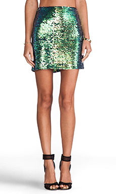 Nookie Galactica Mini Skirt in Hologram