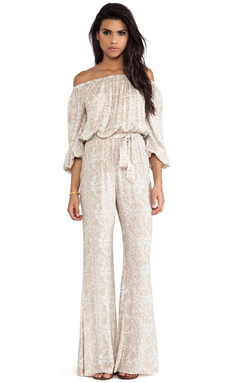 NOVELLA ROYALE Rosewood Romper in White Chantilly
