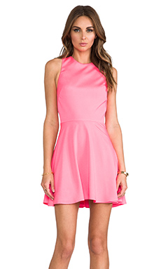 Naven Twisted Circle Dress en Neon Pink