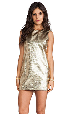 Naven Twiggy Dress in Gold Lurex